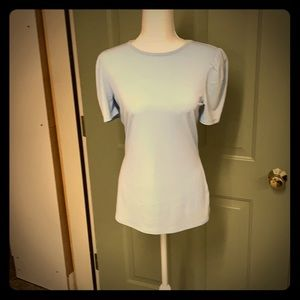 Knit t-shirt with loop open back